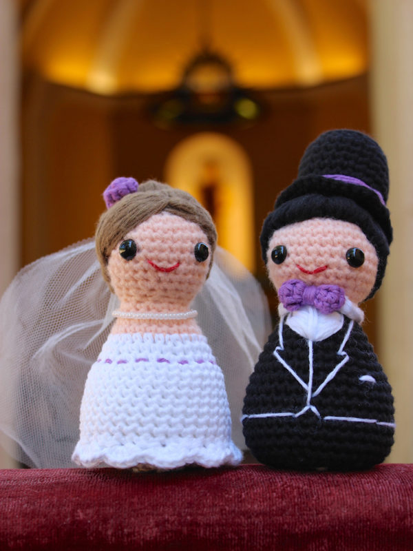 Happy Bride and Groom amigurumi crochet pattern by Tremendu 1