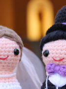 Happy Bride and Groom amigurumi crochet pattern by Tremendu 2