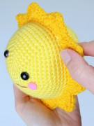 Mr. Golden sun amigurumi crochet pattern by Tremendu 2