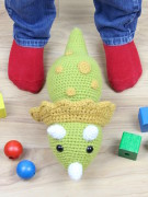 Tuki the triceratops dinosaur amigurumi crochet pattern by Tremendu 4