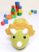 Tuki the triceratops dinosaur amigurumi crochet pattern by Tremendu 5