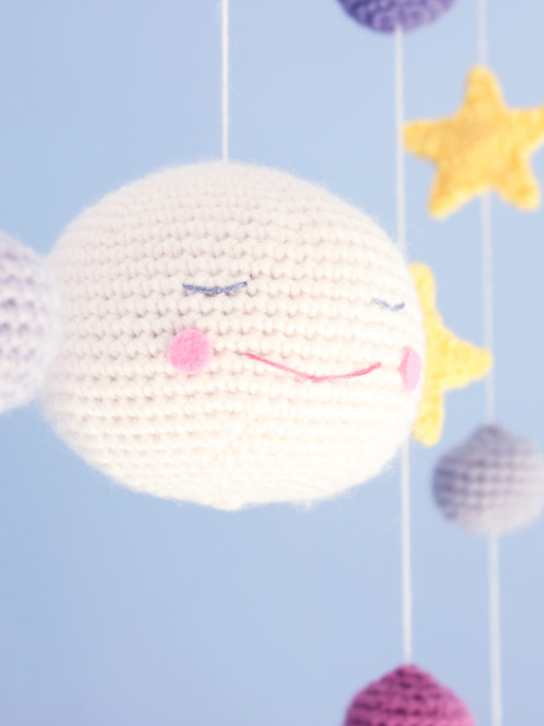 Under the moon mobile amigurumi crochet pattern by Tremendu 3a