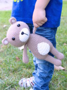 Vinnie the teddy bear amigurumi crochet pattern by Tremendu 3