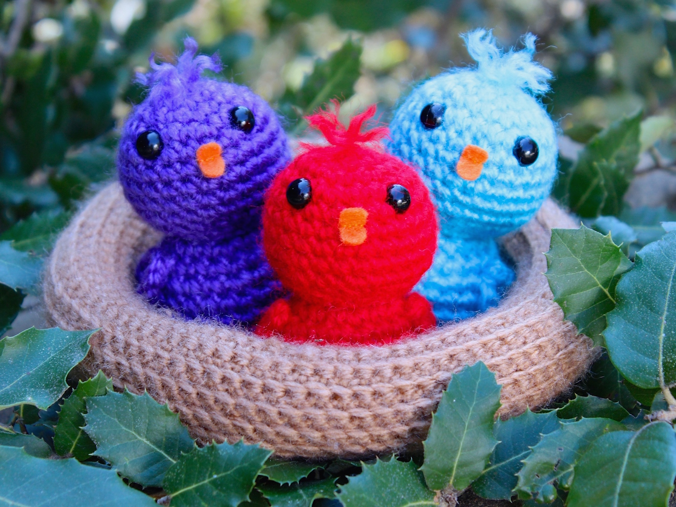 Amigurumi Crochet Pattern : Baby birds in a nest u2013 tremendu crochet