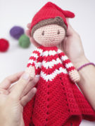 Christmas elf lovey amigurumi crochet pattern by Tremendu 2