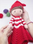 Christmas elf lovey amigurumi crochet pattern by Tremendu 2