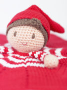 Christmas elf lovey amigurumi crochet pattern by Tremendu 3
