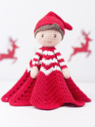 Christmas elf lovey amigurumi crochet pattern by Tremendu 4