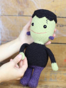 Frankie the smiley Frankenstein amigurumi crochet pattern by Tremendu 4