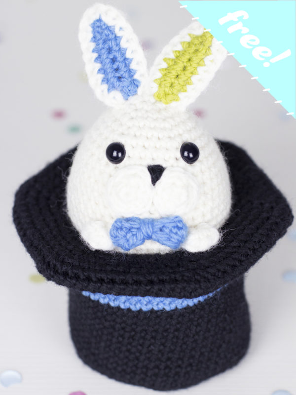 FREE-Magicus the easter bunny amigurumi crochet pattern by Tremendu