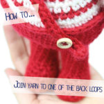 How to… join yarn to one of the back loops